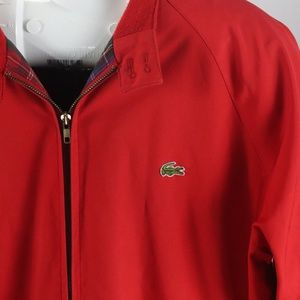 Lacoste Izod Red Jacket Size XL